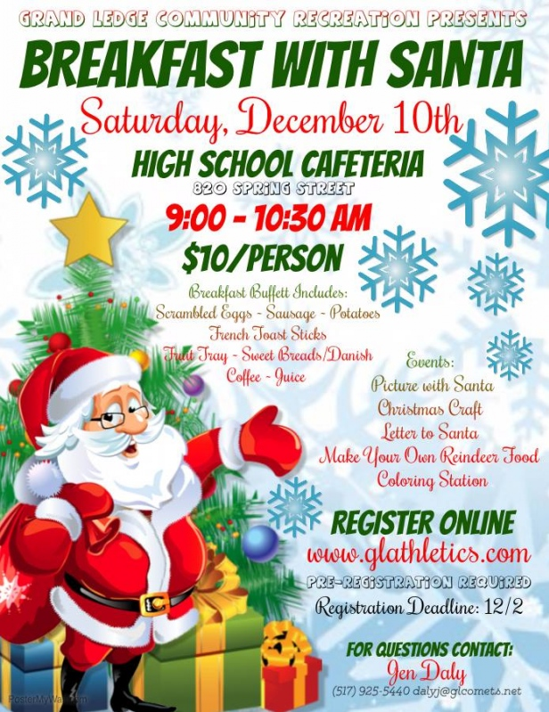 Community calendar grand ledge chamber potatoes french toast sticks fruit tray sweet breadsdanish coffee juice event includes picture with santa christmas craft letter to santa spiritdancerdesigns Images